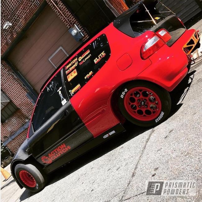 Powder Coating: Wheels,Automotive,Honda,Casper Clear PPS-4005,Astatic Red PSS-1738,Valve Cover