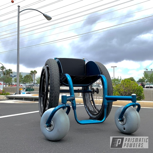 Powder Coating: HAWAIIAN TEAL UPB-1736,Bt-Beach,Wheelchair,Lashersport