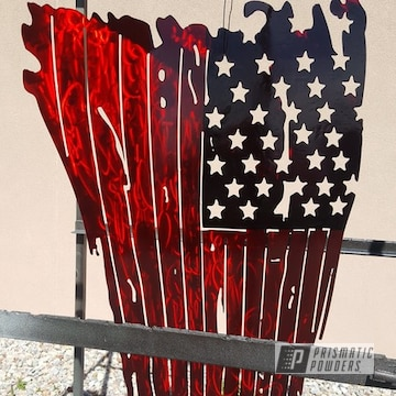Powder Coated Metal American Flags