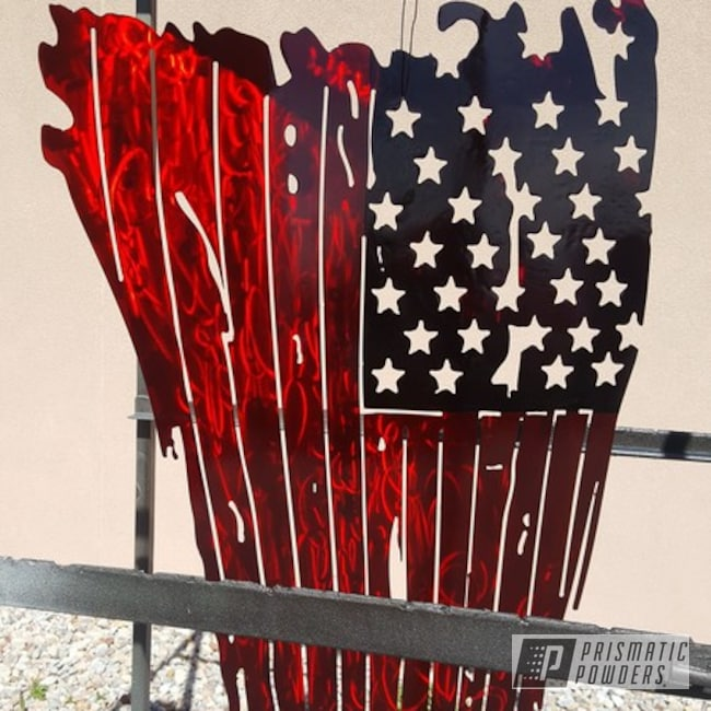 Powder Coating: Metal Art,American Flag,Intense Blue PPB-4474,Flags,Rancher Red PPB-6415,Miscellaneous