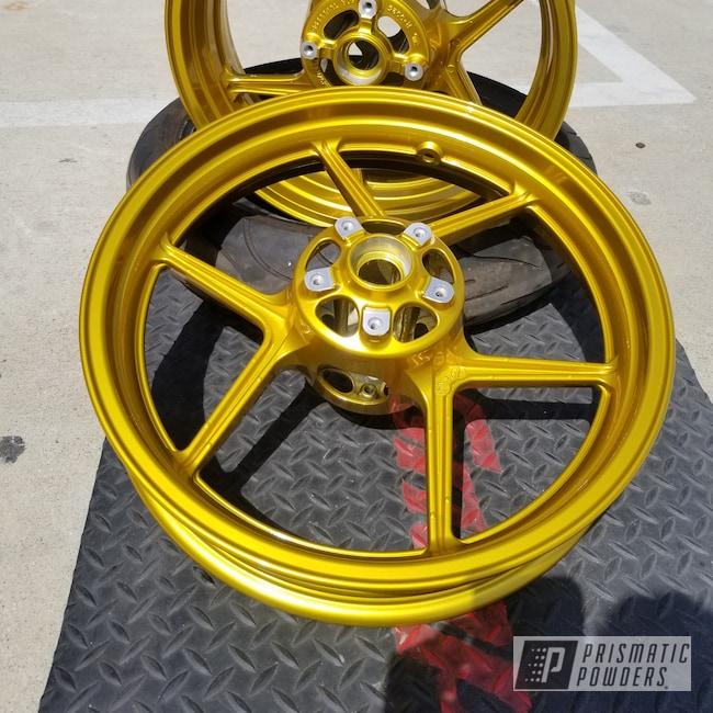 Powder Coating: Wheels,Ninja,Kawasaki,Clear Vision PPS-2974,Illusion Gold-(Discontinued) PMB-10045,Kawasaki Motorcycle,Motorcycles