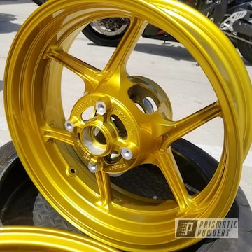 Powder Coated Kawasaki Ninja Motorcycle Wheels