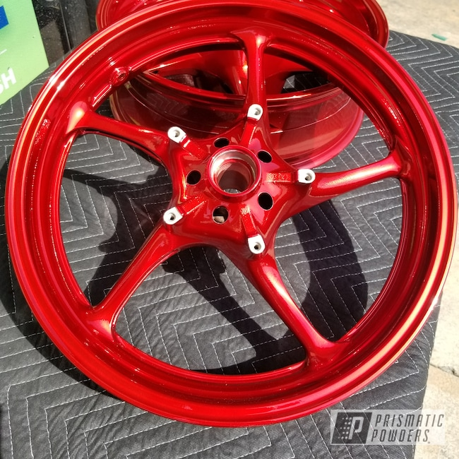 Powder Coating: Wheels,SUPER CHROME USS-4482,LOLLYPOP RED UPS-1506,Motorcycles