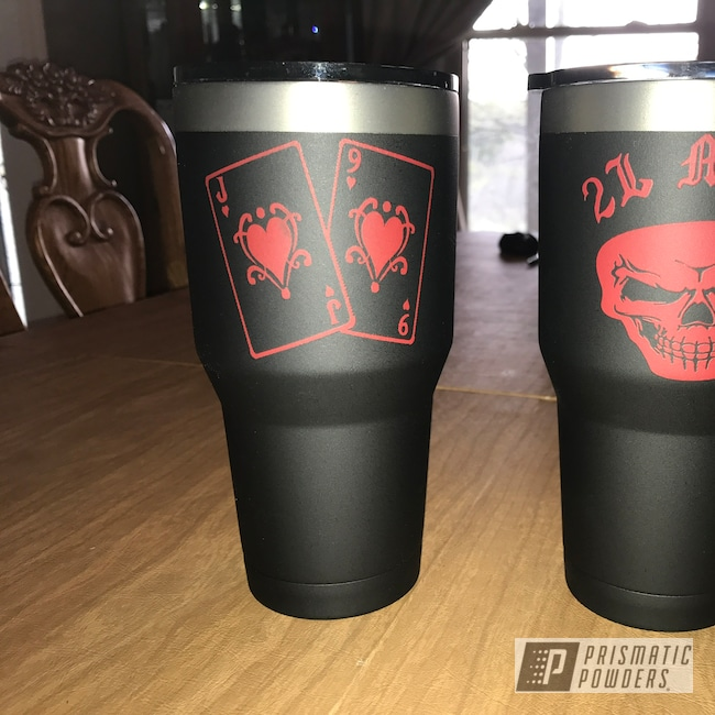 Powder Coating: Tumbler,BLACK JACK USS-1522,Custom Tumbler Cups
