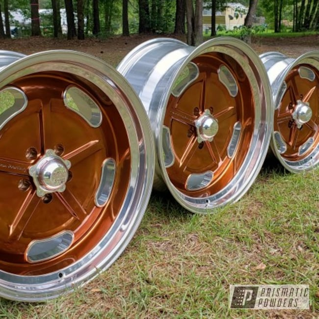 Powder Coating: Wheels,Transparent Copper PPS-5162,Transparent Powder Coating,Copper,American Racing