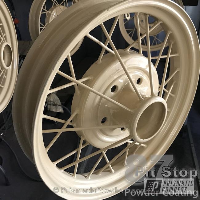 Powder Coating: Wheels,Automotive,Custom Powder Coated Wheels,Powder Coated Wheels,Creamy Almond PSS-2743