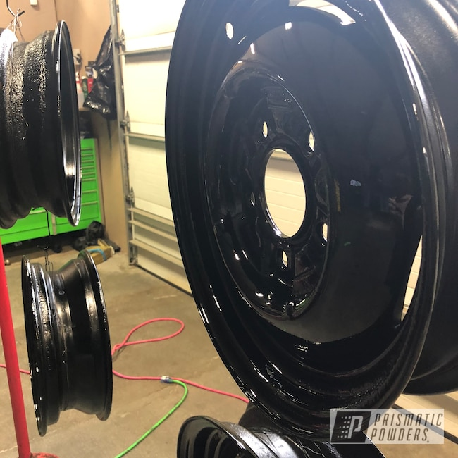 "Powder Coating: Ford Rims,1927,Automotive,10"",Ink Black PSS-0106,1927 Ford,Ford,Model A"