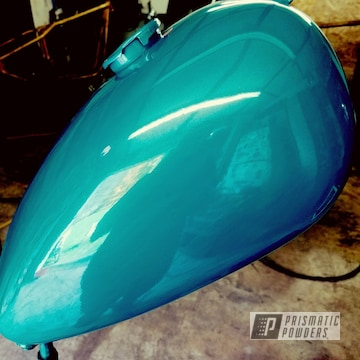 Powder Coated Motorcycle Gas Tank