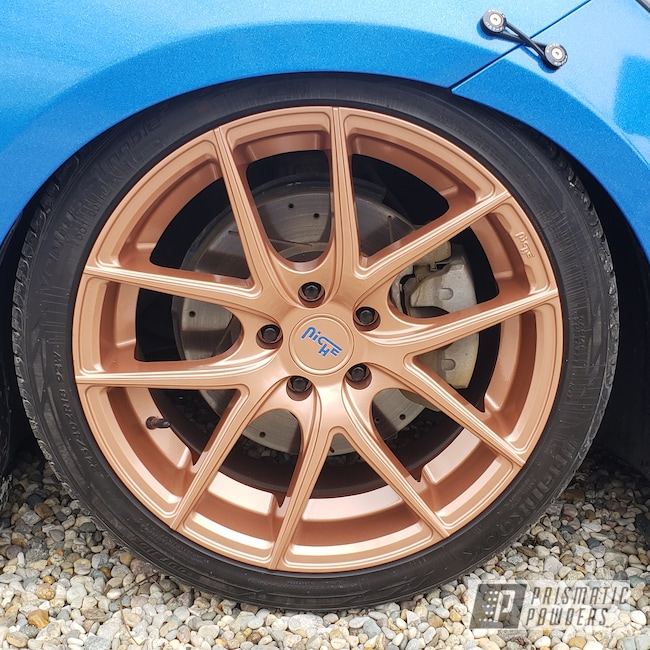 "Powder Coating: Wheels,18"",Automotive,Fireside Copper PMB-4934,Niche Road Wheels,Dodge,18"" Wheels,Dart"