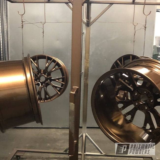 "Powder Coating: Wheels,Automotive,Corvette Z06,18"",Chevrolet,Bronze Chrome PMB-4124,18"" Wheels,Chevy"