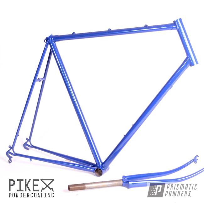 Powder Coating: Bicycle Frame and Fork,Bicycles,Trek,Bike Frame,Bike,Fork,MANHATTAN BLUE UMB-1930