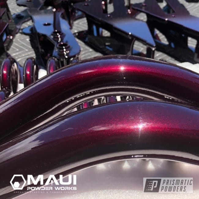 Powder Coating: Automotive,Clear Vision PPS-2974,Show Truck,Lift Kit,Stryker,Illusion Malbec PMB-6906