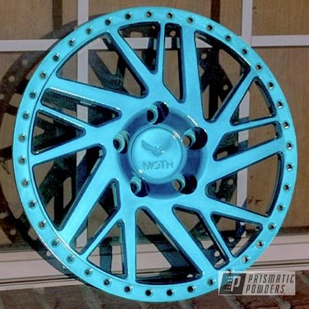 Powder Coating: Wheels,Custom Powder Coated Wheel,Automotive,JAMAICAN TEAL UPB-2043,Moth Racing