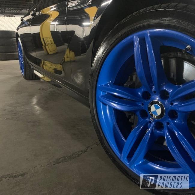 "Powder Coating: Wheels,Brazilian Blue PMB-0770,Automotive,Brazilian Blue,650Xi,BMW,Dodger Blue,19"" Aluminum Rims,Aluminum Wheels"