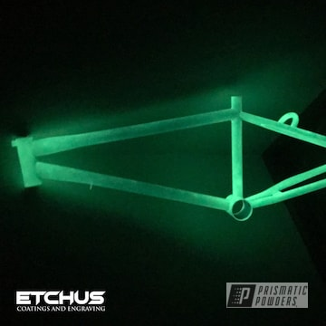 Powder Coated Glow In The Dark Bicycle Frame