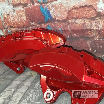 Powder Coated Red Brake Calipers