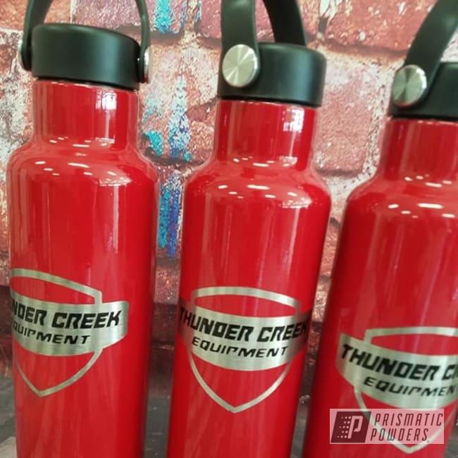 Powder Coating: Ink Black PSS-0106,RAL 3002 RAL-3002,Custom Tumbler,Water Bottle,Hydro Flask