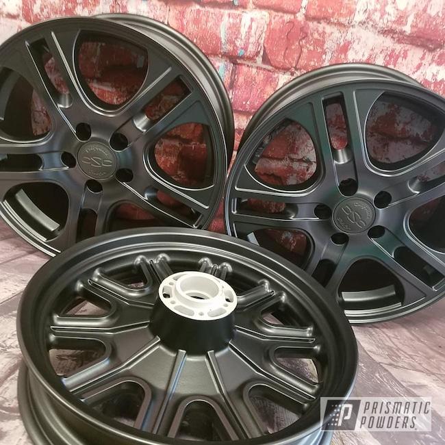 Powder Coating: Wheels,Harley Davidson,STERLING BLACK UMB-1204,Motorcycle Rims,Trike,Motorcycle Wheels,Motorcycles