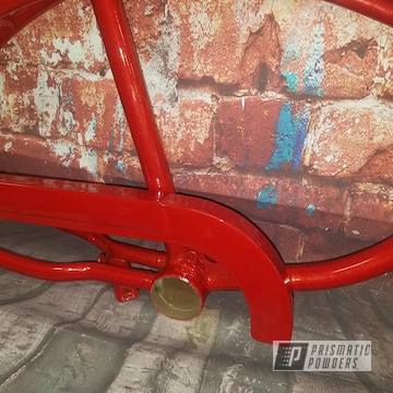 Powder Coated Red Bicycle Frame