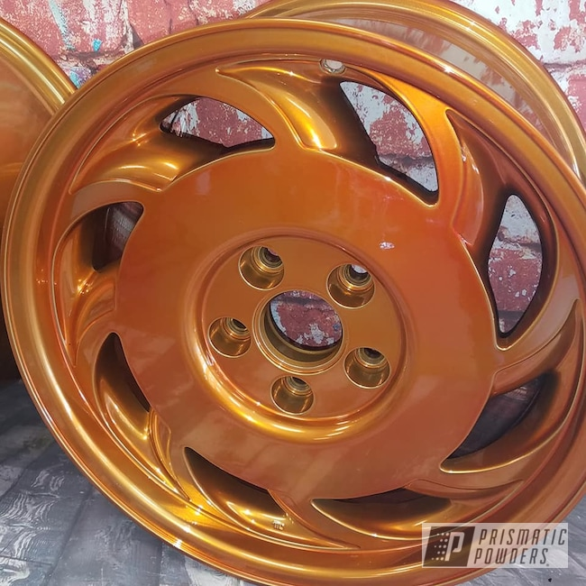 "Powder Coating: Wheels,19"",Transparent Powder Coating,SUPER CHROME USS-4482,Two Stage Application,Aluminium Rims,19"" Aluminum Rims,Trans Copper II PPS-2618"