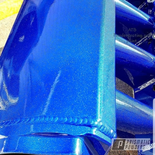 Powder Coating: Intake Manifold,Automotive,LOLLYPOP BLUE UPS-2502,LS,Cosmic Blue PMB-1803