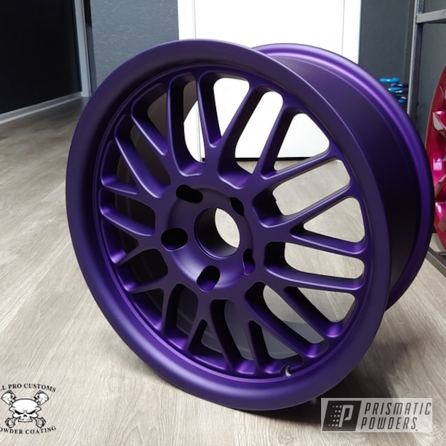 Powder Coating: Illusion Purple PSB-4629,Wheels,Automotive,Matte Finish,Casper Clear PPS-4005