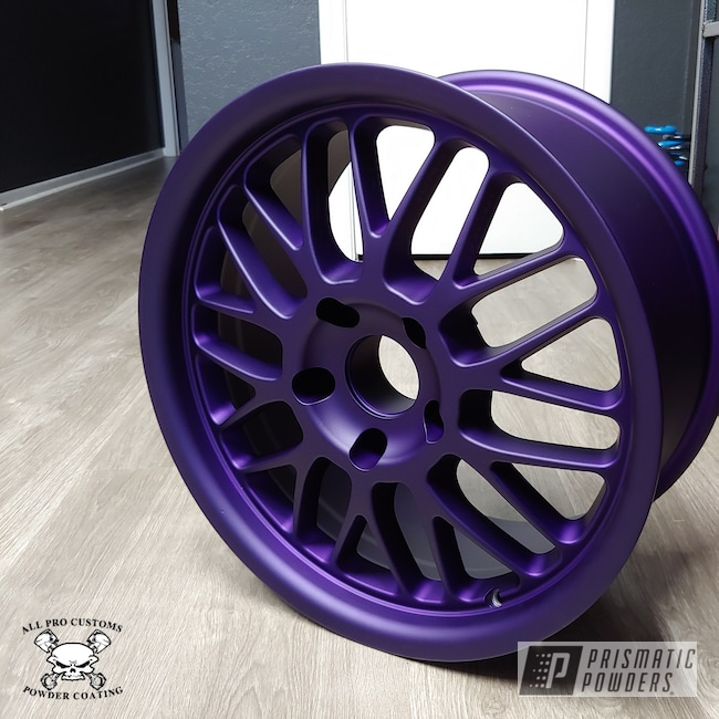Powder Coating: Illusion Purple PSB-4629,Wheels,Automotive,Matte Finish,Casper Clear PPS-4005