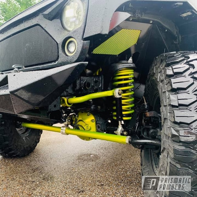 Powder Coating: Automotive,Clear Vision PPS-2974,Lift Kit,Jeep,Illusion Rare Gold PMS-10145