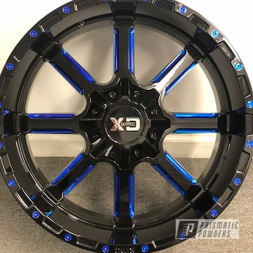 Powder Coated Custom Two Toned Wheels