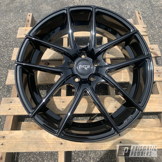 Powder Coating: Wheels,Automotive,20'',Niche,Ink Black PSS-0106,Niche Wheels