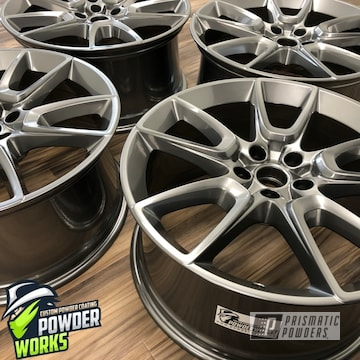 Powder Coated Set Of Wheels