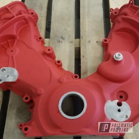 Powder Coating: Automotive,Hacienda Red Wrinkle PWB-6450,Automotive Parts,Engine Cover