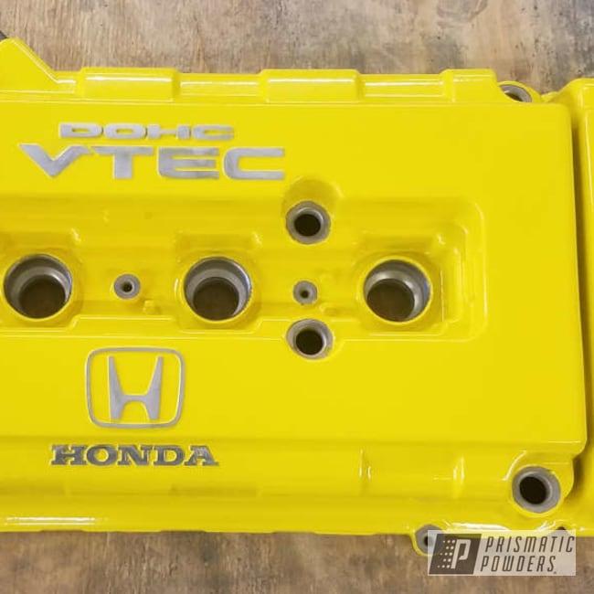 Powder Coating: Automotive,Honda,Valve Cover,Hot Yellow PSS-1623