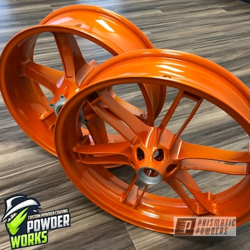 Powder Coated Motorcycle Wheels