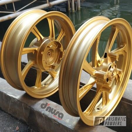 "Powder Coating: Scooter,PCX,Honda,14"",Spanish Gold EMS-0940,PCX 150"