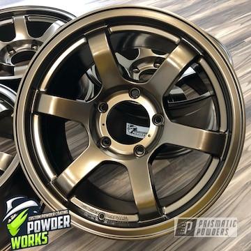 Powder Coated Set Of Wheels