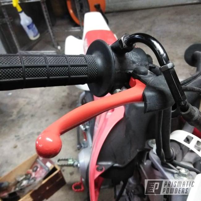 Powder Coating: Racer Red PSS-5649,crf50,Honda,Lever,Motorcycles,Dirt Bike