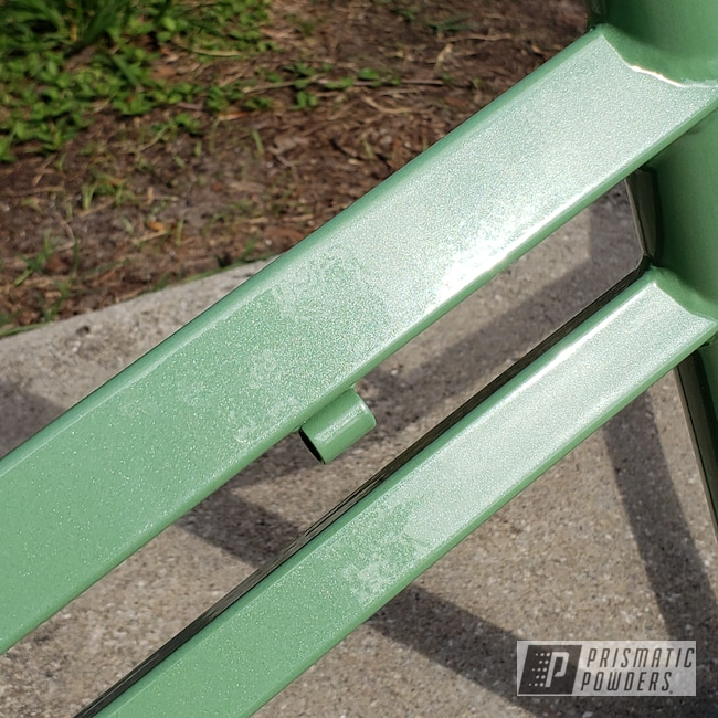 Powder Coating: Bicycles,Pearl Mint PMB-6944,Clear Vision PPS-2974,BMX,Bicycle Frame