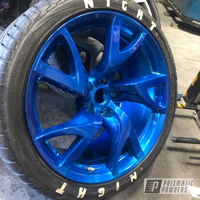 "Powder Coating: Wheels,350z,19"",Automotive,Clear Vision PPS-2974,Nissan,ANODIZED BLUE UPB-1394,19"" Aluminum Rims"