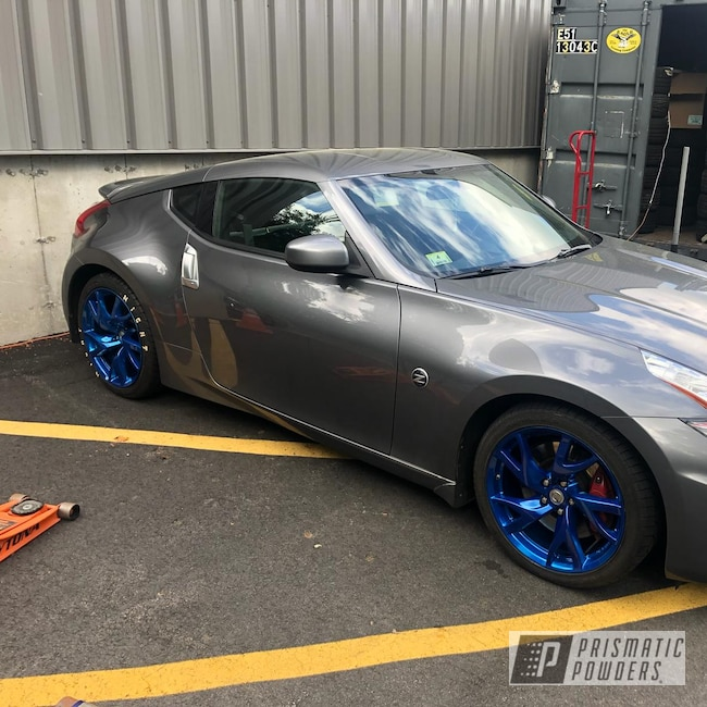 "Powder Coating: Wheels,350z,19"",Automotive,Clear Vision PPS-2974,Nissan,ANODIZED BLUE UPB-1394,19"" Aluminum Rims"