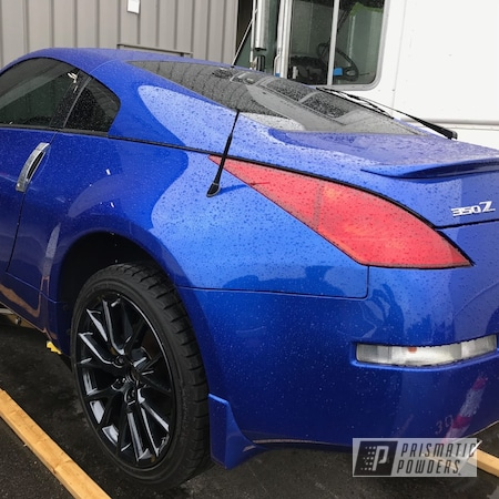 "Powder Coating: Wheels,350z,19"",Automotive,Clear Vision PPS-2974,Nissan,Heavy Black Metallic PMB-0223,19"" Aluminum Rims"