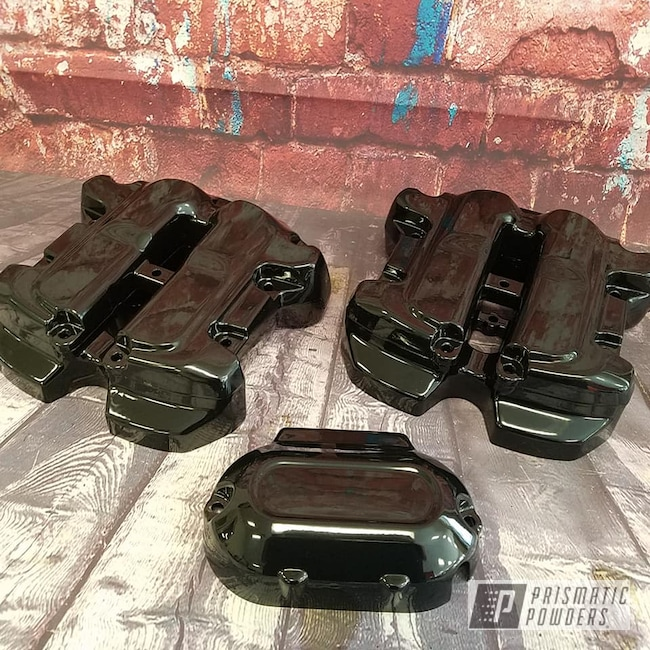 Powder Coating: Harley Davidson,Motorcycle Parts,Ink Black PSS-0106,Motorcycles