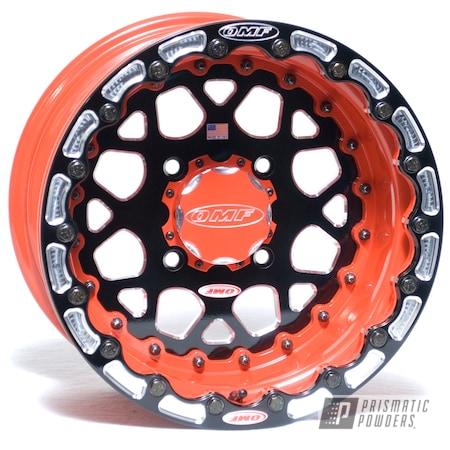 Powder Coating: Wheels,Automotive,Bright Red PSB-6401,Two Tone