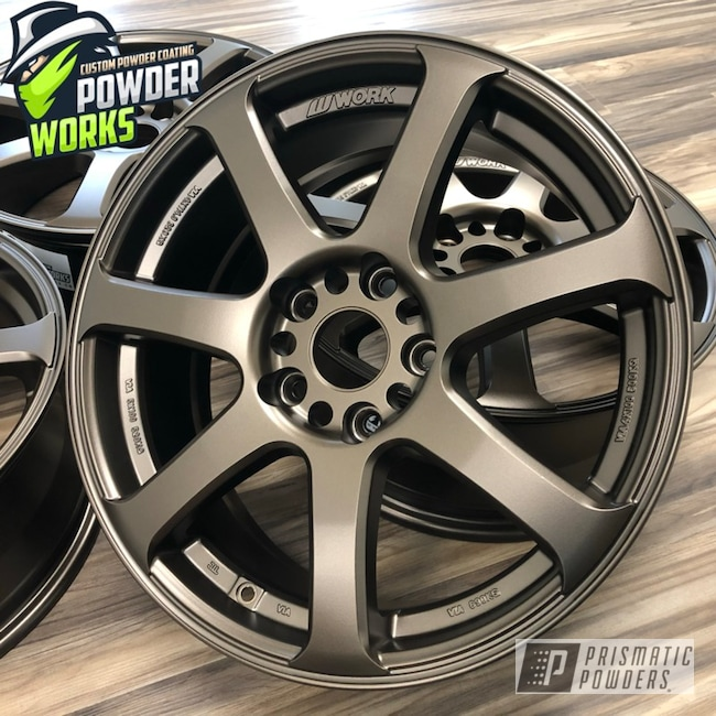 Powder Coated Set Of Custom Wheels