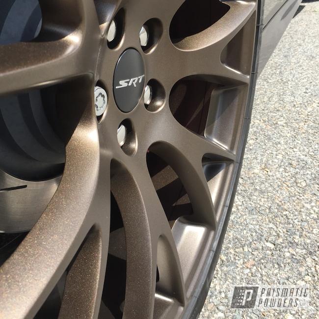 "Powder Coating: Wheels,Automotive,20"" Wheels,Dodge,Brassy Gold PPS-6530,20"",Hellcat Charger,Powder Coated SRT Rims"