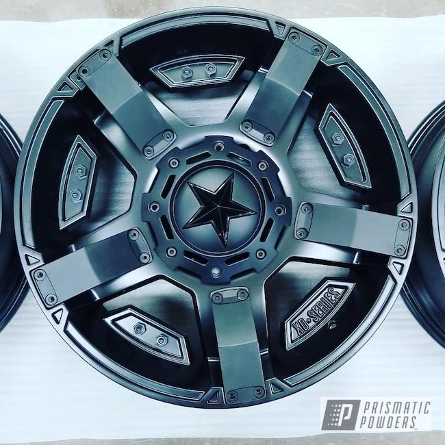 Powder Coating: Wheels,Automotive,Custom Rims,Stone Black PSS-1168