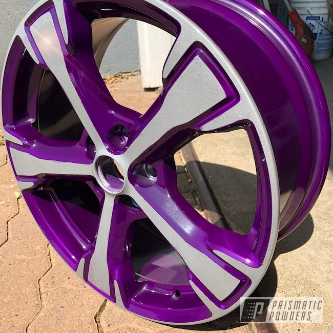 """Powder Coating: Wheels,Automotive,Clear Vision PPS-2974,Custom Wheel,16"""" Wheels,Illusion Violet PSS-4514,16"""""""