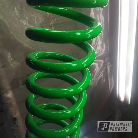 Powder Coating: Automotive,Coil Spring,Truck Suspension,Lifted Truck,Neon Green PSS-1221