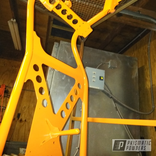 Powder Coating: Automotive,Jeep Parts,Custom Built,Just Orange PSS-4045,Spare Tire Carrier