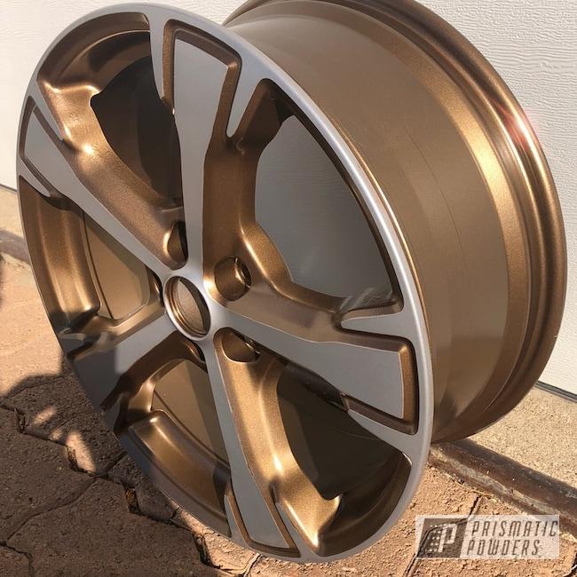 "Powder Coating: Wheels,BMW Silver PMB-6525,Automotive,TRIPLE BRONZE UMB-4548,Two Tone,16"" Wheel"